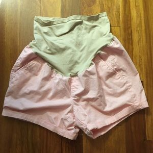 Old navy pink maternity shorts - over belly